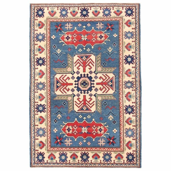 Herat Oriental Afghan Hand-knotted Kazak Wool Rug (5'4 x 7'10) - 5'4 x 7'10