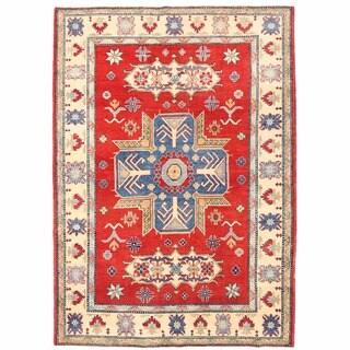 Herat Oriental Afghan Hand-knotted Kazak Wool Rug (5'5 x 7'10)