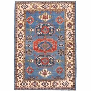 Herat Oriental Afghan Hand-knotted Kazak Wool Rug - 6' x 8'10