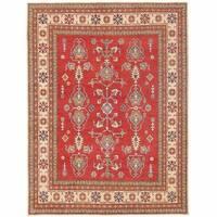 Herat Oriental Afghan Hand-knotted Kazak Wool Rug (7'3 x 9'6)