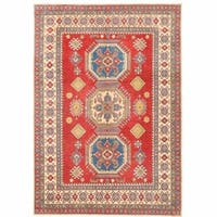 Herat Oriental Afghan Hand-knotted Kazak Wool Rug (7'7 x 11') - 7'7 x 11'