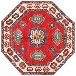 Herat Oriental Afghan Hand-knotted Kazak Wool Rug (7'7 x 7'8) - 7'7 x 7'8