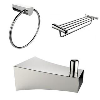 Robe Hook, Multi-Rod Towel Rack And Towel Ring Accessory Set