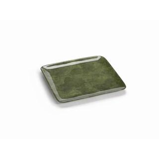 Shagreen 10-inch Green Ceramic Serving Tray