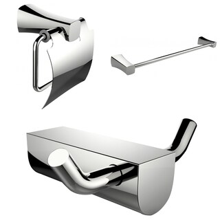 Single Rod Towel Rack And Robe Hook With Modern Toilet Paper Holder Accessory Set