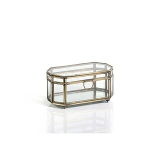 Octagonal Glass and Iron Box (Set of 2)