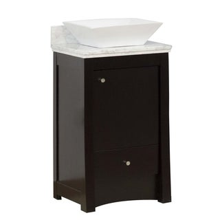 19-in. W x 17.5-in. D Transitional Birch Wood-Veneer Vanity Base Only In Distressed Antique Walnut
