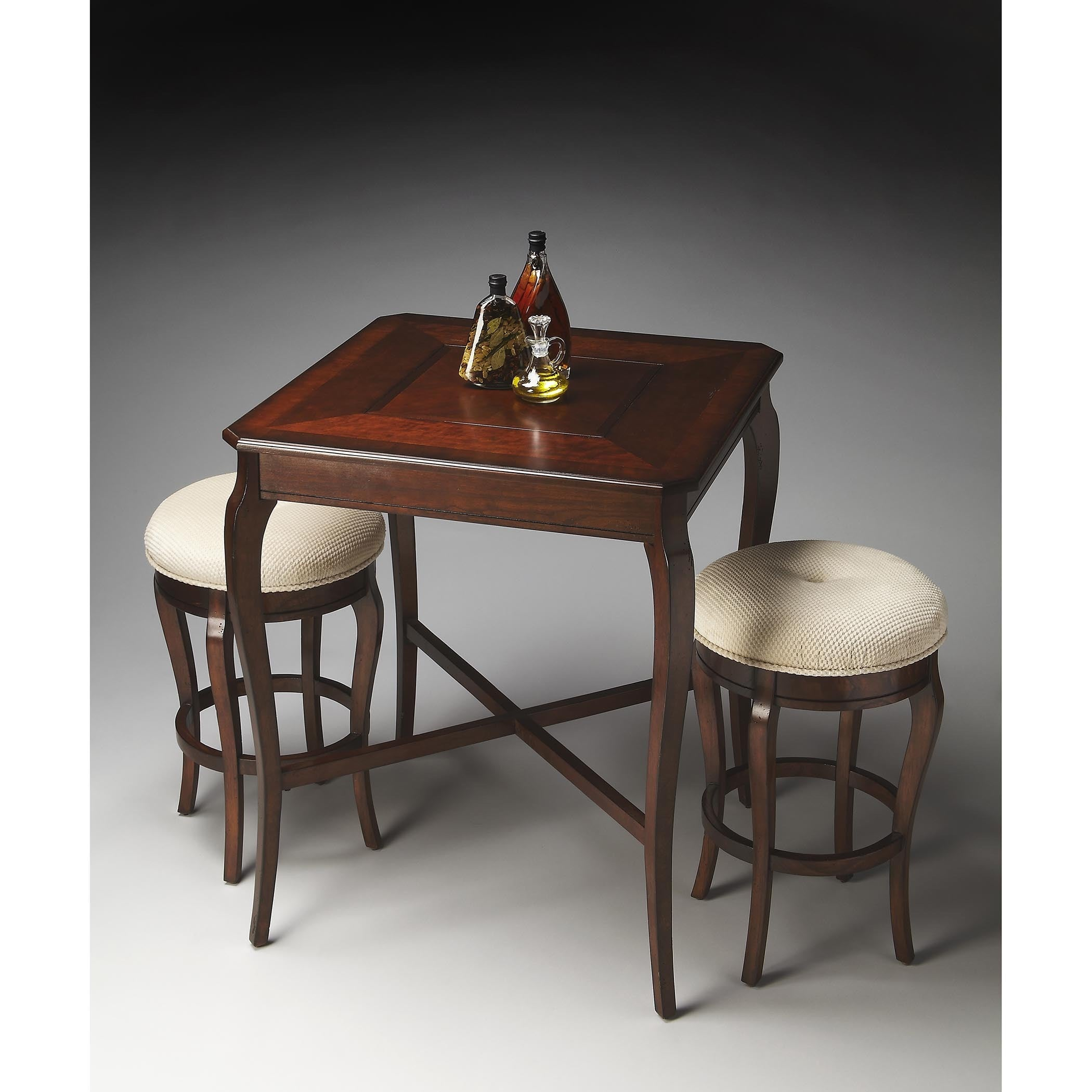 Butler Plantation Cherry (Red) Pub Game Table (Dark Brown)