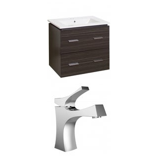24-in. W x 18-in. D Plywood-Melamine Vanity Set In Dawn Grey With Single Hole CUPC Faucet