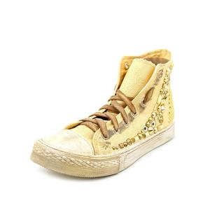 Studswar Women's Cleo Gold Cotton High-top Athletic Shoes