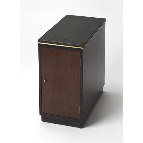 Handmade Butler Onyx Leather Chair End Table (Philippines)