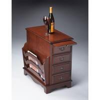 Butler Traditional Rectangular Magazine Table - Dark Brown