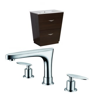 21-in. W x 18.5-in. D Plywood-Melamine Vanity Set In Wenge With 8-in. o.c. CUPC Faucet