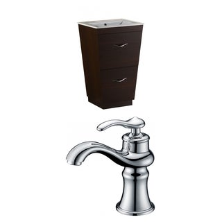 21-in. W x 18.5-in. D Plywood-Melamine Vanity Set In Wenge With Single Hole CUPC Faucet
