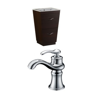 24-in. W x 18.5-in. D Plywood-Melamine Vanity Set In Wenge With Single Hole CUPC Faucet
