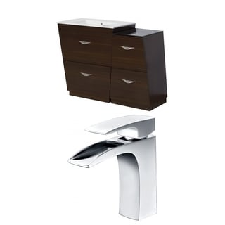 40.5-in. W x 18.5-in. D Plywood-Melamine Vanity Set In Wenge With Single Hole CUPC Faucet