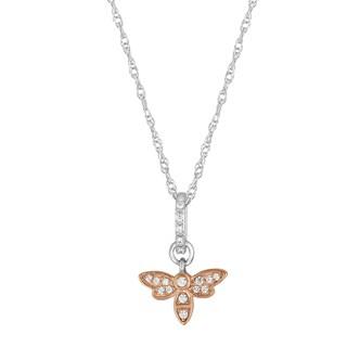 Allure Sterling Silver 1/10 TCW Diamond Bug Pendant
