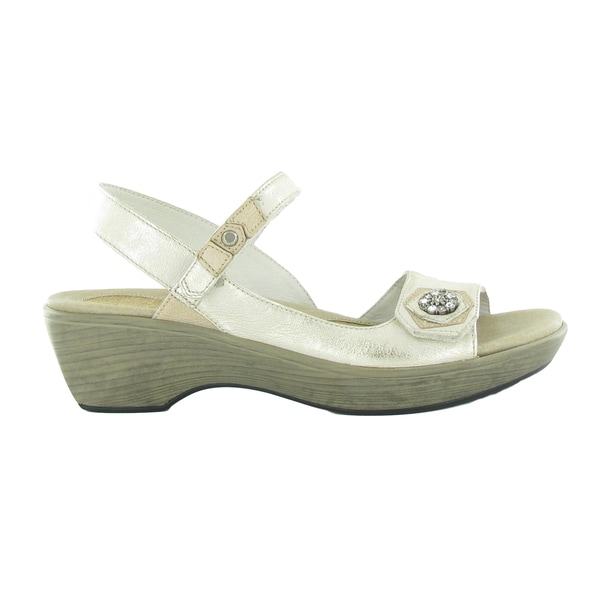 Shop Naot Reserve Women S Off White Comfort Wedge Sandal