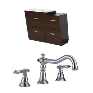 43.5-in. W x 18.5-in. D Plywood-Melamine Vanity Set In Wenge With 8-in. o.c. CUPC Faucet