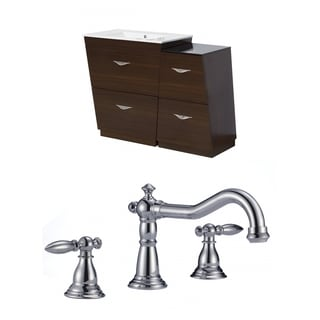 47.5-in. W x 18.5-in. D Plywood-Melamine Vanity Set In Wenge With 8-in. o.c. CUPC Faucet