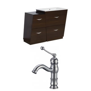 47.5-in. W x 18.5-in. D Plywood-Melamine Vanity Set In Wenge With Single Hole CUPC Faucet