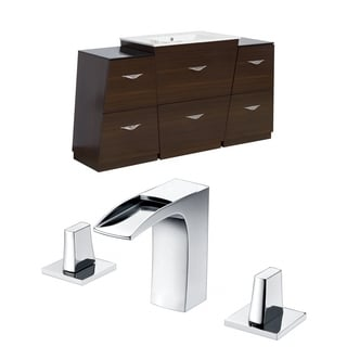 67-in. W x 18.5-in. D Plywood-Melamine Vanity Set In Wenge With 8-in. o.c. CUPC Faucet