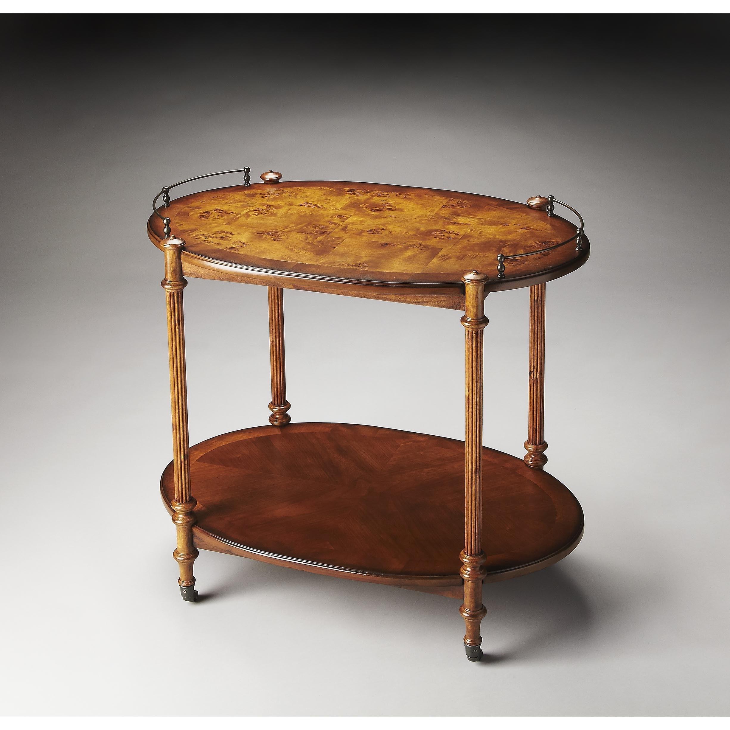 Butler Kathleen Brown Brass, MDF, Wood Tea Server (Medium...