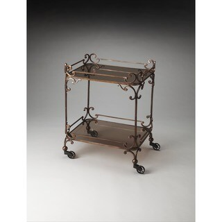 Butler Delphine Iron and Glass Serving Cart