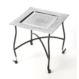 Link to Handmade Bahia Silver Moroccan Tray Table (India) Similar Items in Living Room Furniture