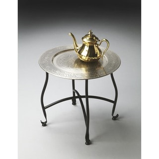 Superieur Handmade Butler Moroccan Metal Tray Table (India)
