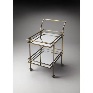 Butler Gatsby Antique Brass Bar Cart