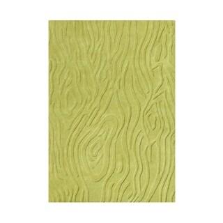 Alliyah Parrot Green Textured Wool Rug (8' x 10')