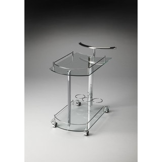 Butler Penelope Clear Glass Serving Cart