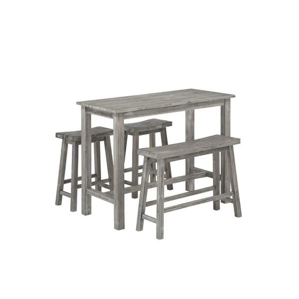 Wondrous Shop Sonoma Wood 4 Piece Pub Set With Table On Sale Free Interior Design Ideas Greaswefileorg