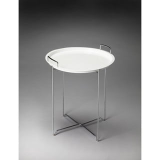 Butler Midtown White Steel Tray Table