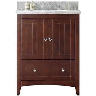 29.5-in. W x 18-in. D Plywood-Veneer Vanity Set In Walnut