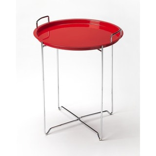 Butler Midtown Red Steel Tray Table