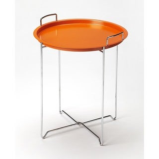 Butler Midtown Orange Steel Tray Table