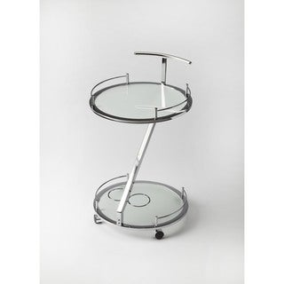 Butler Gigi Modern Frosted Glass Serving Cart