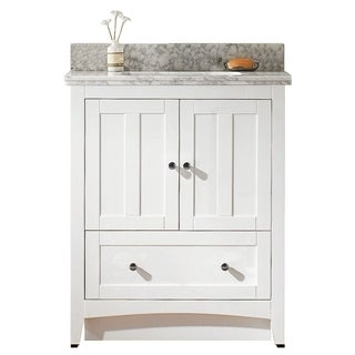 29.5-in. W x 18-in. D Plywood-Veneer Vanity Set In White