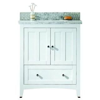 29.5-in. W x 18-in. D Plywood-Veneer Vanity Set In White