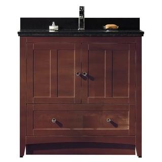 35.5-in. W x 18-in. D Plywood-Veneer Vanity Set In Walnut