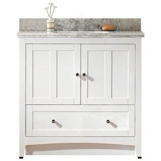 35.5-in. W x 18-in. D Plywood-Veneer Vanity Set In White