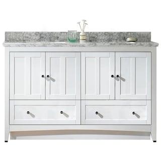 59.5-in. W x 18-in. D Plywood-Veneer Vanity Set In White
