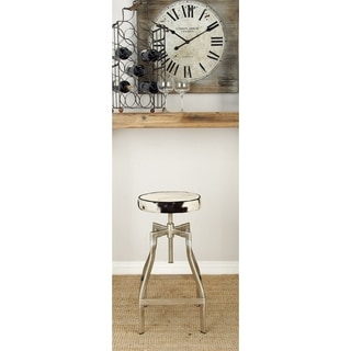 Exclusive Metal Hide Leather Adjustable Stool
