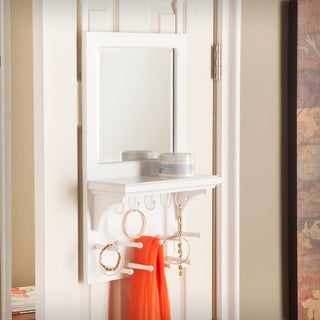 Harper Blvd Terris Over-the-Door Jewelry Mirror/ Storage