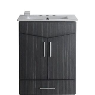 24-in. W x 17-in. D Plywood-Melamine Vanity Set In Dawn Grey
