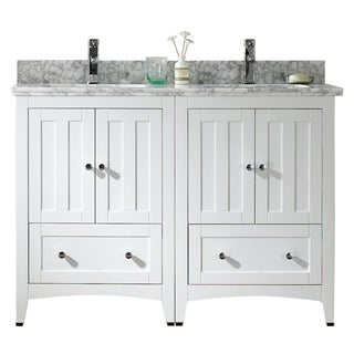 47.5-in. W x 18-in. D Plywood-Veneer Vanity Set In White