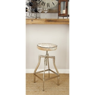 Classy Metal Hide Leather Adjustable Stool (13 inch Wide x 29 inch High)