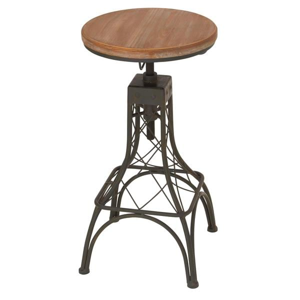 Metal Wood Adjacent Bar Stool 14 Inch Wide X 28 Inch High